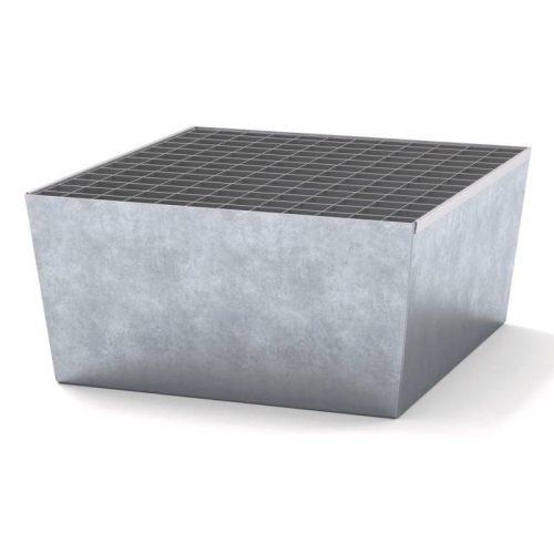 vasca zincata 1 fusto con grigliato