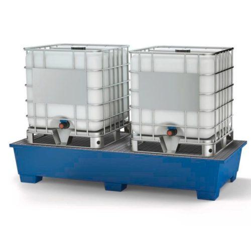 vasca per cisternette con 2 grigliati