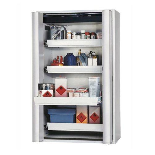 armadio a cassetti per liquidi infiammabili